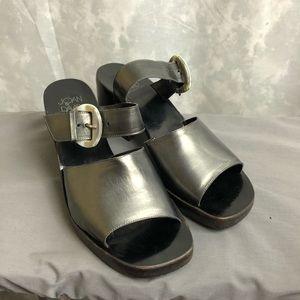 Joan & David vintage chunky heel open toe